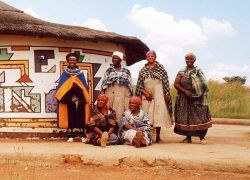 A Ndebele house, painted by the woman who lives there - Wikipedia