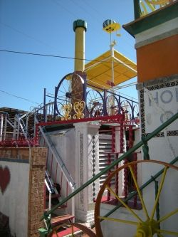 One of several stairs at The Orange Show