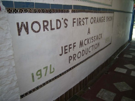 The Orange Show sign.