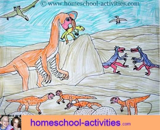 Kids oviraptor drawing