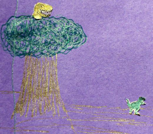 child dinosaur drawing