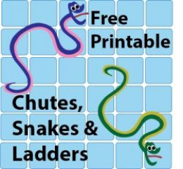 Free chutes and snakes and ladders templates hubpages for Chutes and ladders board game template