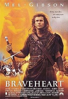 Gibson as William Wallace in Braveheart