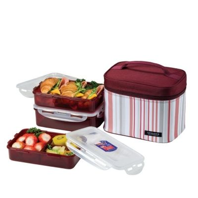 Red Lunchbox with Containers