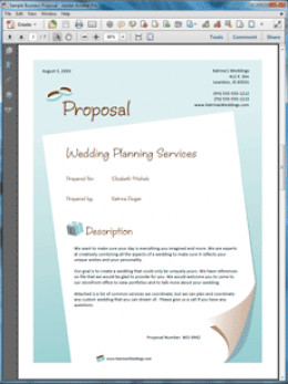 How to write a wedding event planner business proposal