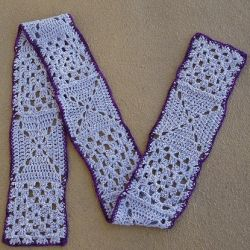 Granny square crochet scarf on Flickr