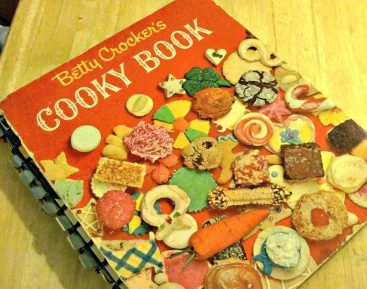 Cover of my vintage Betty Crocker Cookbook.  You can see that it is well-loved!