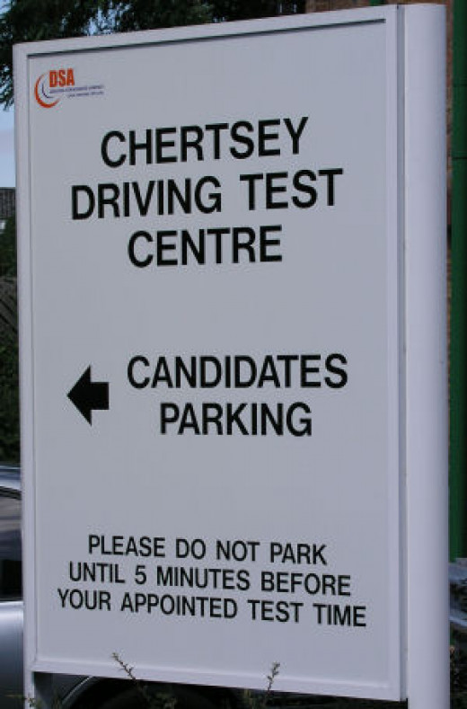 Driving test nerves can be reduced by choosing a test centre situated in an area you know well