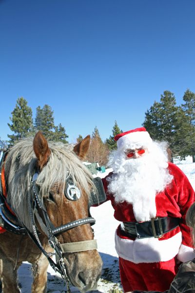 When Santa doesn't need to fly, he prefers a horse-drawn sleigh.Photo by Lisa Howard