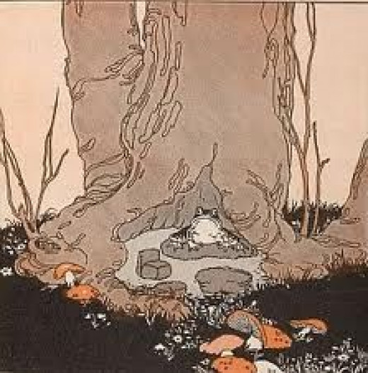 """This could be a """"garden"""" set with a toad"""