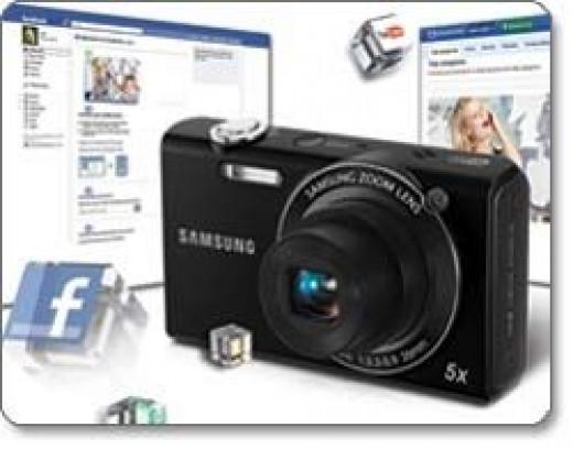 digital cameras that upload to facebook