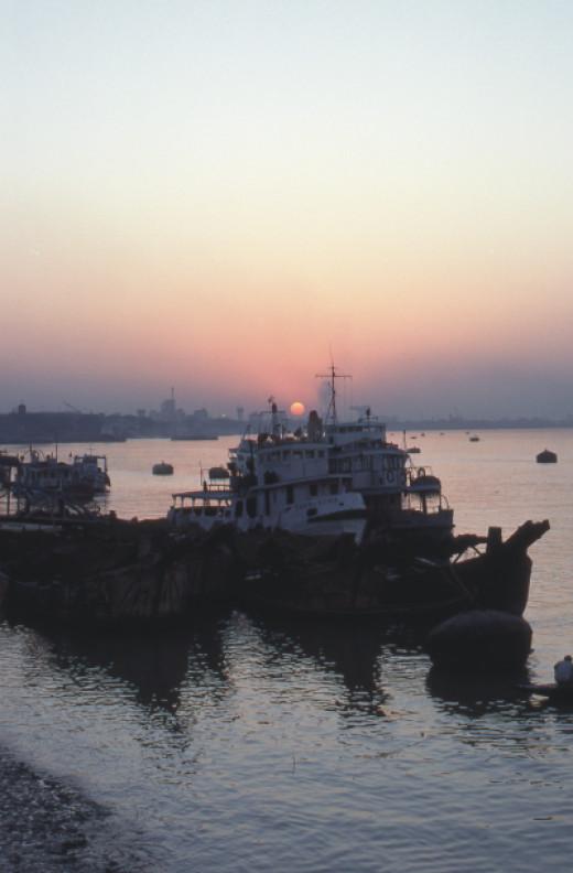 Sunset in Calcutta