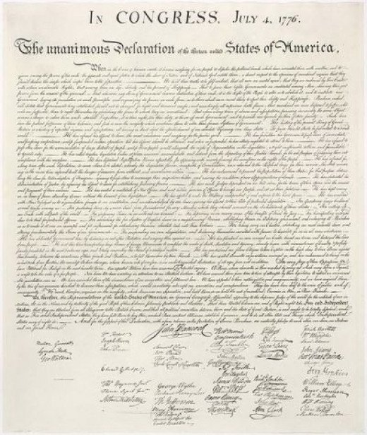 Declaration of Independence, July 4, 1776