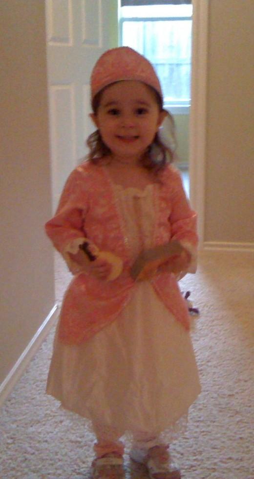 My daughter, the princess.