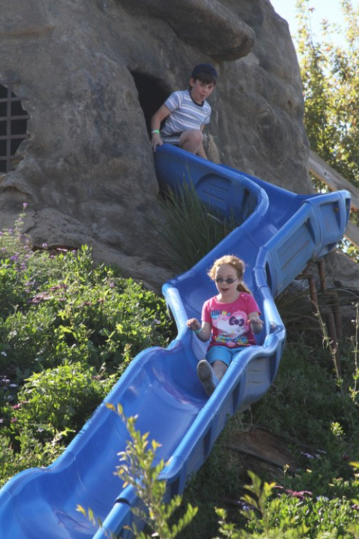 Despite the fact that this slide is slow and kids often have to push with their hands to make it all the way down, my kids love it.