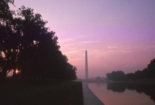 I took this photo of the Washington Monument at sunset while I was still in college. This is the image on the slide shown in the intro module.