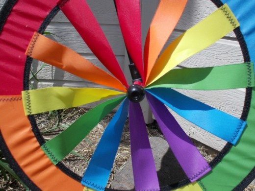 "The ""before"" photo of a pinwheel."