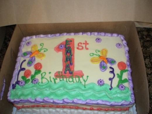 My Little Girl's Hugs & Stitches Birthday Cake