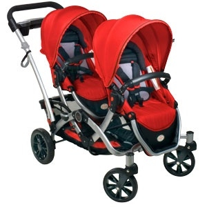 Both seats can face forward like a standard double stroller