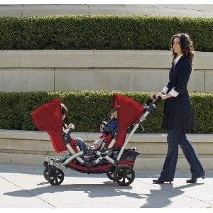 Contours stroller seats can face each other.