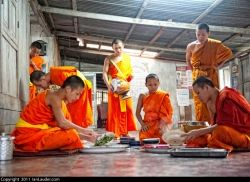 Monk Meal Time