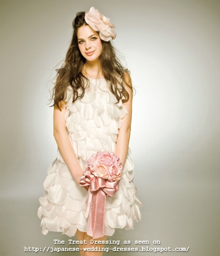 Pretty ruffly tiered wedding mini-dress by The Treat Dressing