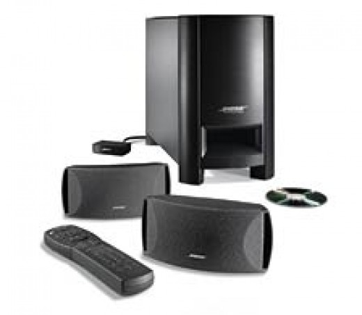 An inexpensive Bose Home Theater Setup