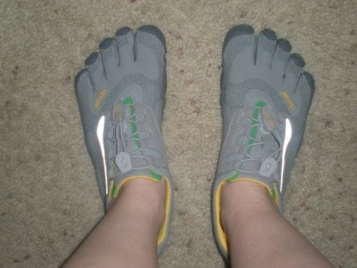 My Freshly Washed Vibram Five Fingers Shoes