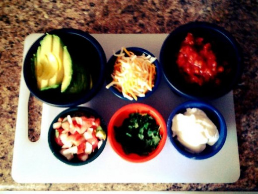 Taco Bar! Choose your favorite toppings.