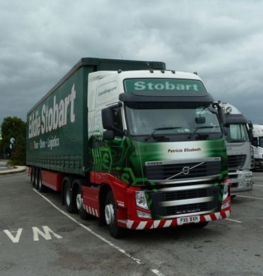 Eddie Stobart Truck Bagged at Chieveley M4 Patricia Elizabeth