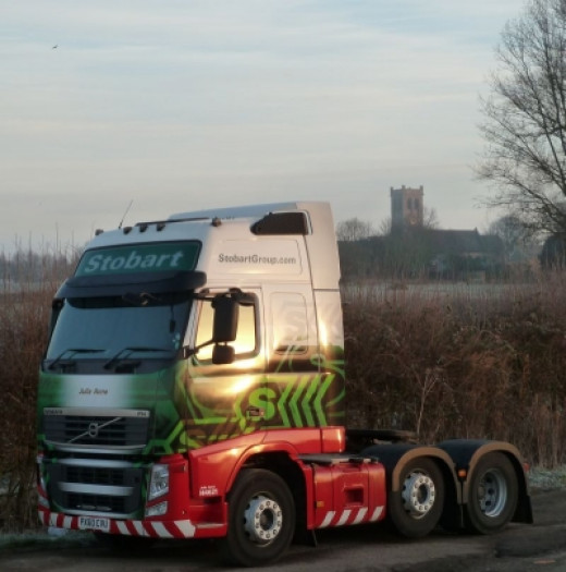 Eddie Stobart Semi-Trailer in the countryside