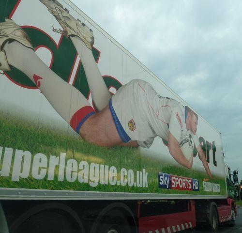 Sky Superleague Advert on side of Eddie Stobart Trailor
