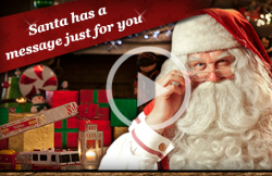 personalized christmas video from santa claus