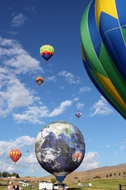 The earth balloon was shaped like many of the other balloons, but was unusual for its design.