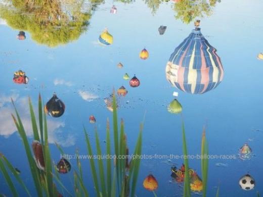 reno hot air balloon photo reflection