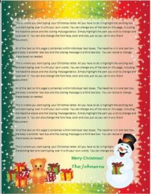 christmas letter template