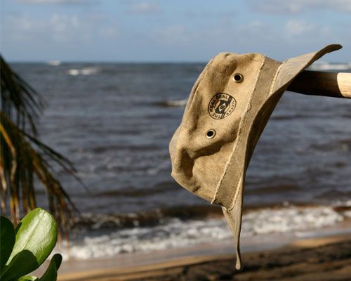 recycled canvas hat