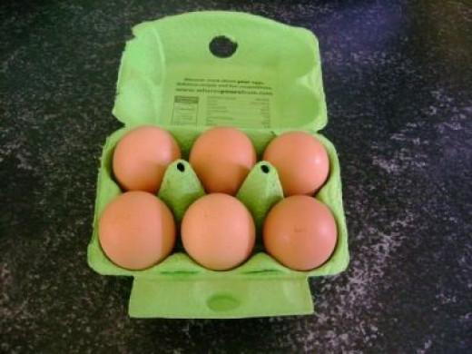 Free Range Eggs In Box