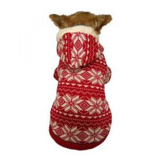 Knitted and Warm Pet Sweater with Hood