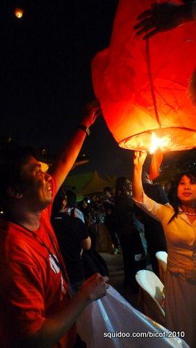 Artists' Night lamp-lighting ceremony.