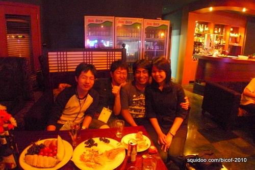 Arnold and me with Japanese manga artists Sakura Mizuki and GRACE.