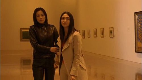 Naomi and Shiori in a tense moment.