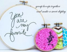 embroidery hoop collection