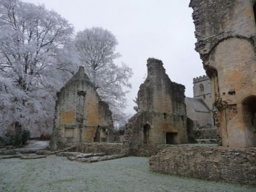 Minster Lovell Ruins in the snow