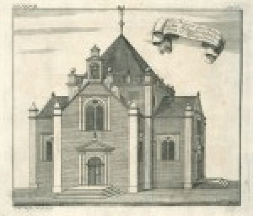 A view of the Dutch church existed within Jaffna fort.