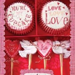 Valentines day cake baking tools