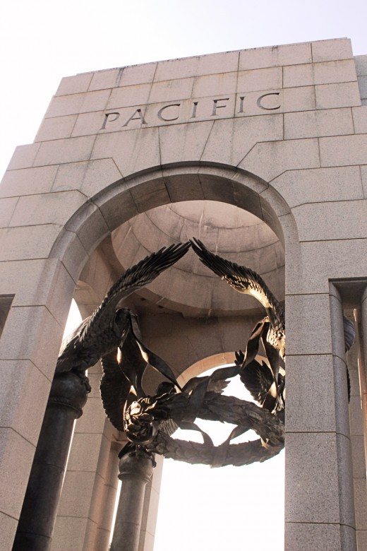 The Archway that depicts the Pacific theater during WWII