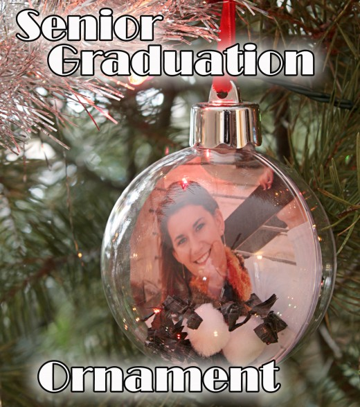 My daughters Senior Picture ornament for her high school graduation