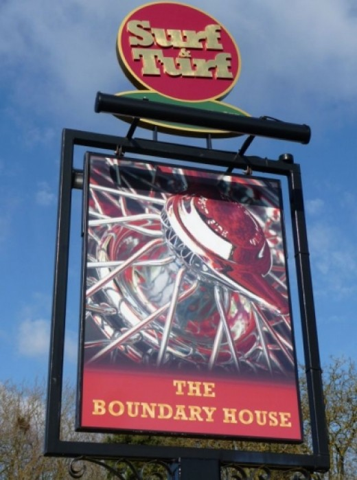 New MG Tribute Pub Sign for Boundary House Pub Abingdon
