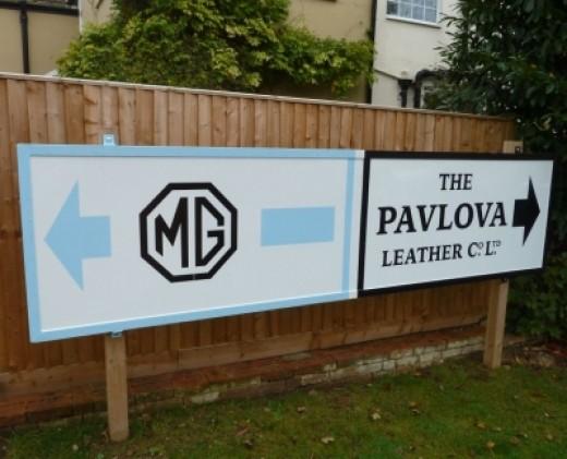 Restored MG Cars & Pavlova Factory Signs